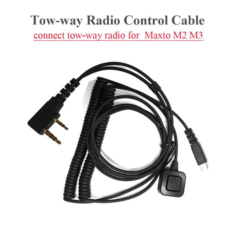 Motorcycle Helmet Headsets Intercom Tow-way Radio Control Cable K Port Two-way Radio Connection Cable for Maxto M3 M2 Interphone
