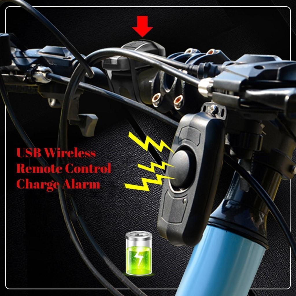 Yeni Anti-hırsızlık Bisiklet Alarm Kilidi L714 Şarj Uzaktan Kumanda Titreşim Bisiklet Alarm USB Bisiklet Kilidi Bisiklet Güvenlik Kilidi wirel