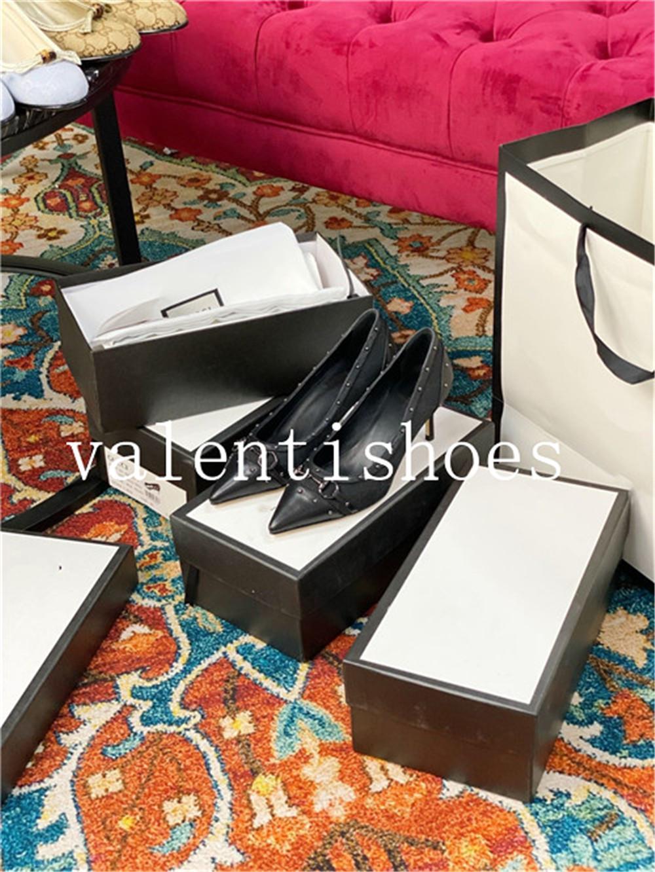 2020 Herbst und Winter der neuen Artfrauen Luxus hochwertige einzelne Schuhe hohe Absätze flache Schuhe einfach und modisch Allgleiches fdzhlzj