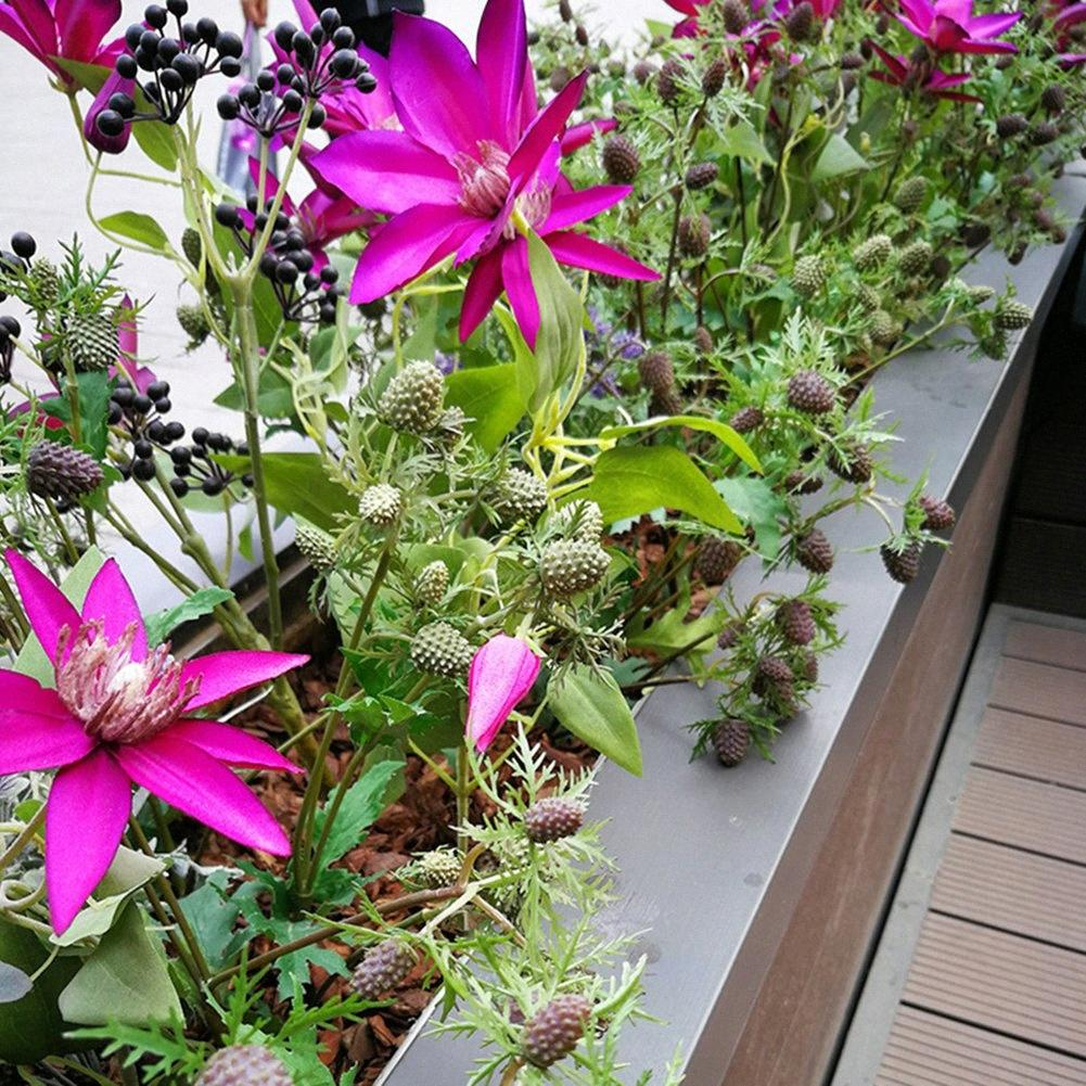 55cm Künstliche Berry Bouquet Gefälschte Small Wild Obst Obst Pflanze Artificial Blumenstrauß Mini Blatt Wohnzimmer im Freien Hochzeitsdeko fyvc #