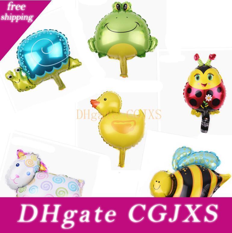 New Fashion Cute Animals Aluminium Coating Balloons Kids Toys Happy Birthday Party Gifts Decorations Free Shipping