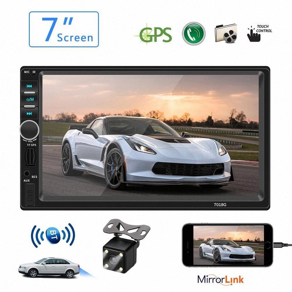 GPS MP5 Multimedia Radio voiture Bluetooth 7 écran tactile HD AUX Vedio Caméra USB Autoradio Voir 2 Din audio stéréo Récepteur rxec #