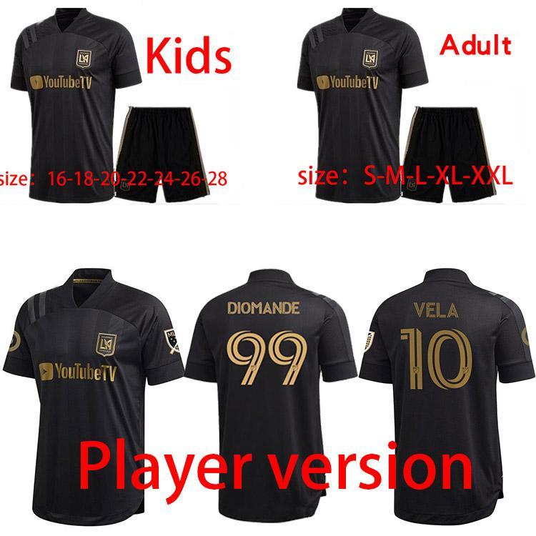 2021 Los Angeles Erkek FC Oyuncu Sürüm Futbol Formaları Yeni LAFC Rossi Vela Ev Futbol Gömlek Nimet Diomande Kısa Kollu Jersey