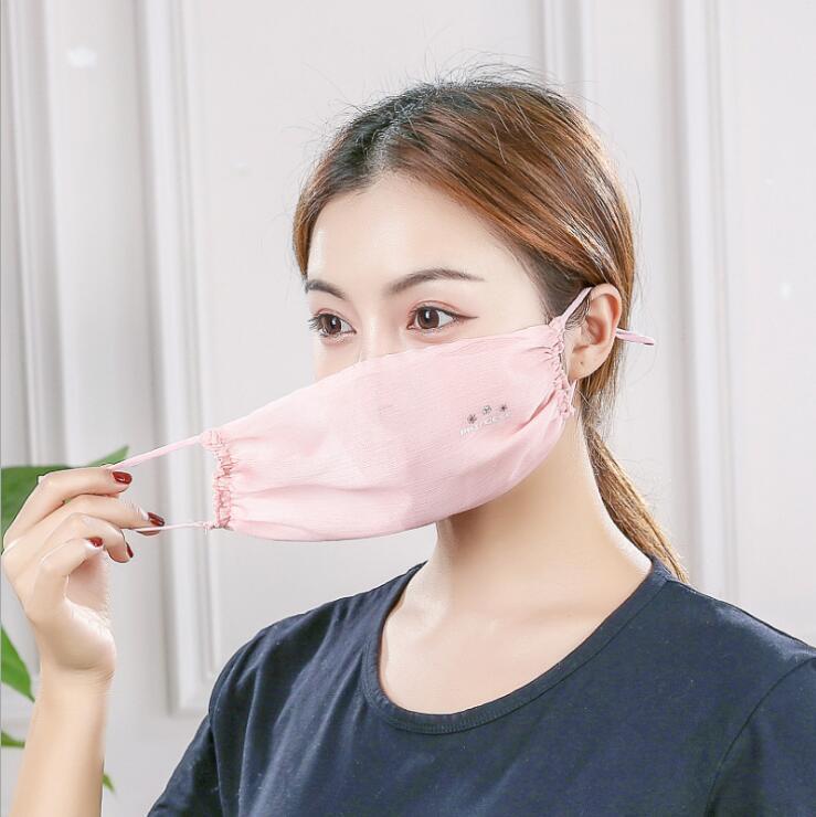 Einstellbare atmungsaktiv Garn Gesichtsmaske Waschbar Muti-Farbe Gesicht Abdeckung Wiederverwendbare Designer Masken: Sonnenschutz Soft Mund-Maske Partei Masken DWB170
