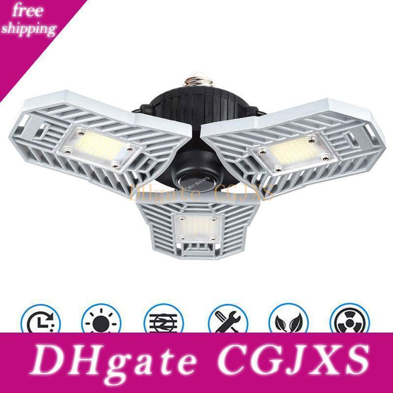 Led Garage Licht 60w E27 6000Lm deformierbare Deckenbeleuchtung ultra -Bright Grubenlampen Lager Lampe mit 3 Adjustable Panels