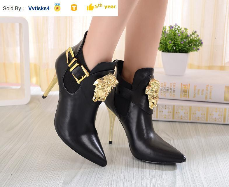 Women's leather high heel sandals boots Riding Rain Boot BOOTS BOOTIES SNEAKERS Dress Shoes