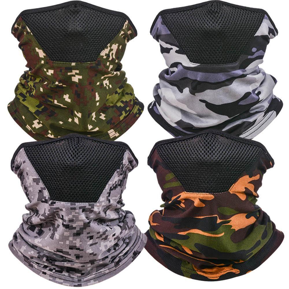 Outdoor Camouflage Maschera di protezione UV maschera facciale di copertura in bicicletta sciarpa magica bandana senza giunte Foulard HH9-3198