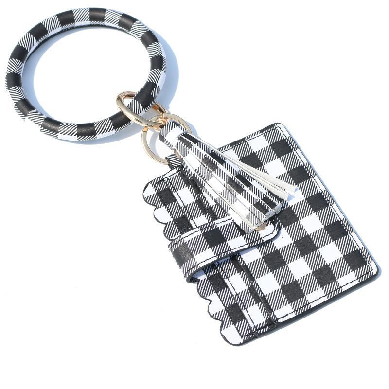 12styles Bilezik Çanta Anahtarlık Kadınlar Püsküller Bilezikler PU Deri Wrap Anahtarlık Bileklik Wristlets Sikke Çantalar Kart Sahibi Çanta GGA3634-6