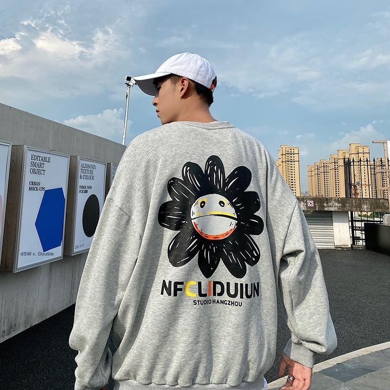 ins camicia alla moda di g0uxb V2U1X Daisy maglione donne T- stile coreano shirt- Maglione T sciolto del tutto-fiammifero pigro stile falso in due pezzi sp a maniche lunghe