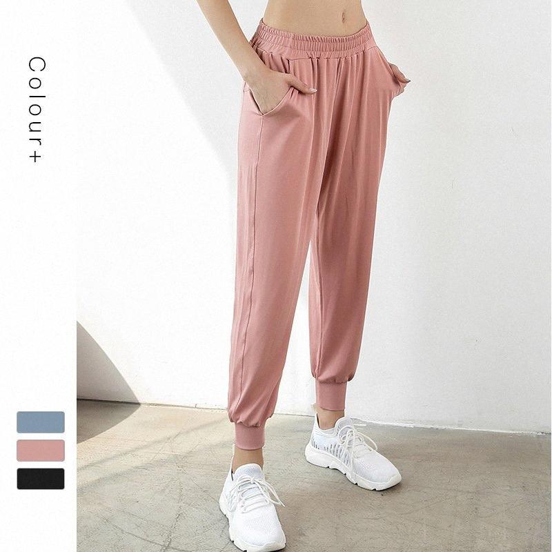 Traspirante secchezza rapido Esecuzione Donne Sportswear leggero fascio piedi Rosa Jogger Sweatpants Medium Soft Vita Traccia Pantaloni iUu2 #