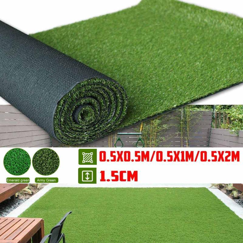 Moss artificielle Faux plantes vertes Faux Moss Herbe Shop Maison Patio Jardin Décoration murale Living Room Decor Fournitures 50-200cm