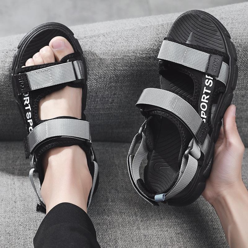 КОМБИНАЦИЯ 2020 и тапочки лета новые сандалии мужские Корейский модный стиль универсален тапочки спортивные сандалии случайные OoCSK
