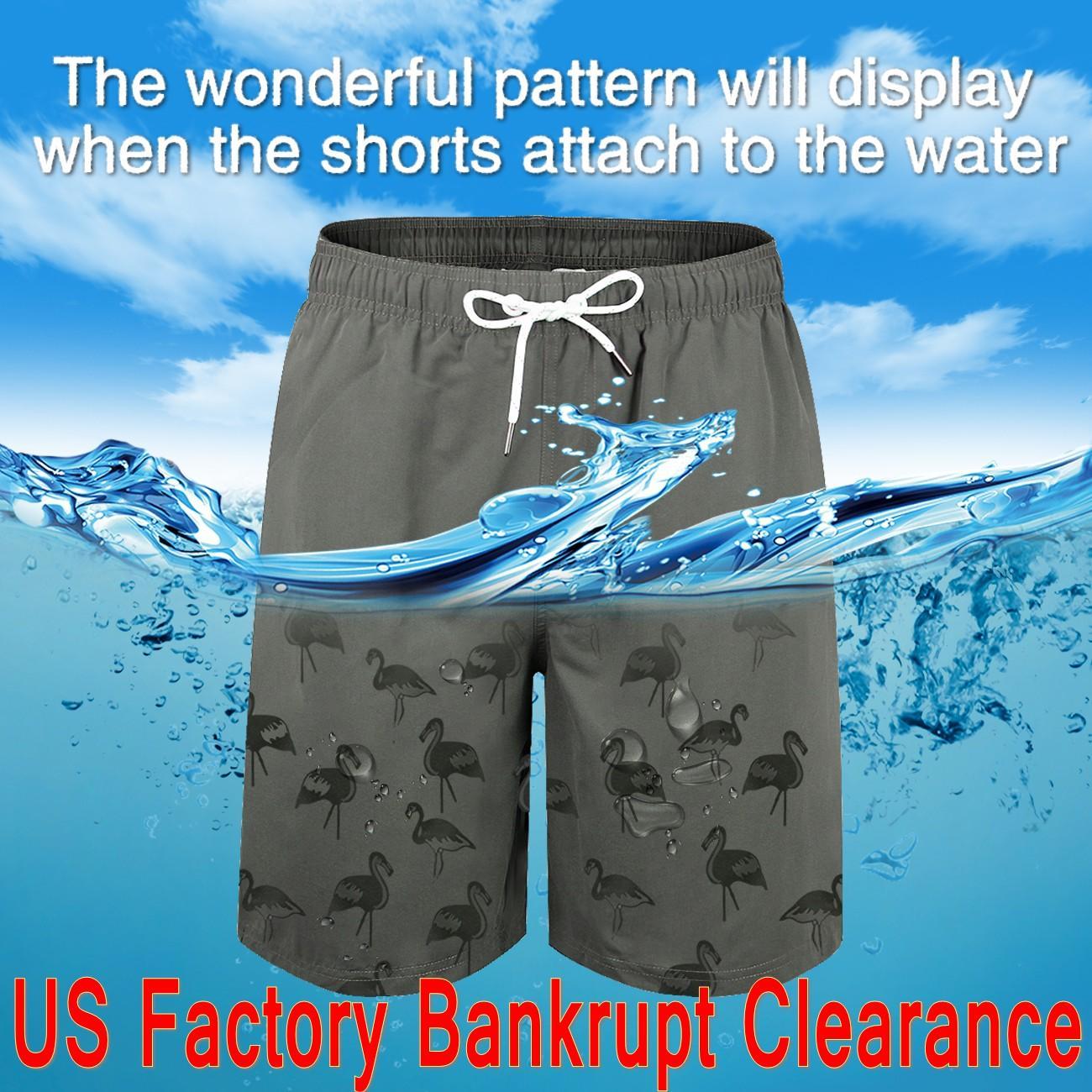 US Azioni Uomo Costumi da bagno Costumi da bagno Magic Swim Shorts Trunks Board Shorts Buona Qualità Clearance di promozione 6554
