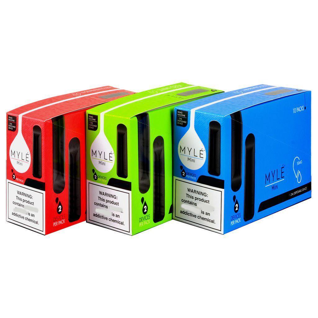 Myle Mini Disposable Device Vape Pen Vapor Pods Starter Kits 320puffs 1.2ml Carts Disposable Stick Portable Vaporizer