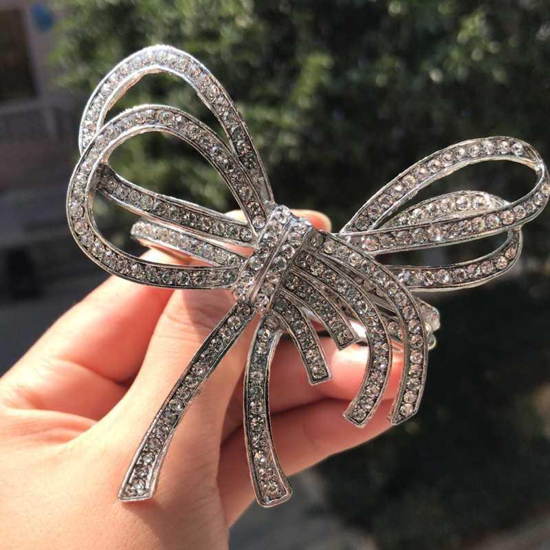 Nueva lujo Shinny la joyería accesoria cristalina de la boda completa Pulseras encanto de las mujeres del Rhinestone brillante abierto del manguito pulseras brazaletes