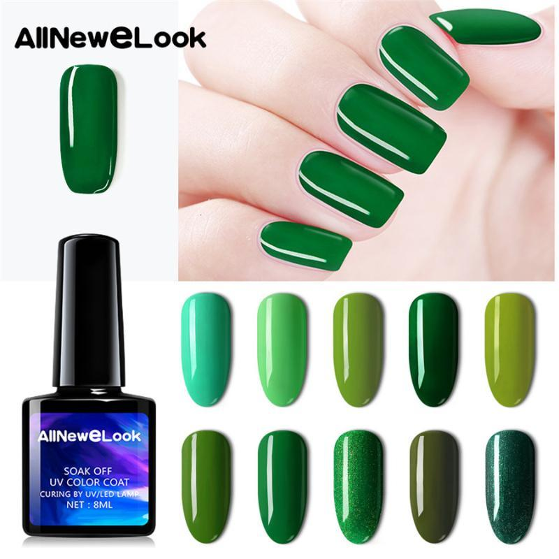AllNeweLook Noël Gel UV Vernis à ongles rose vert Couleur Soak Off Gel d'avocat Vert Vernis Nail Art Vernis semi permanent