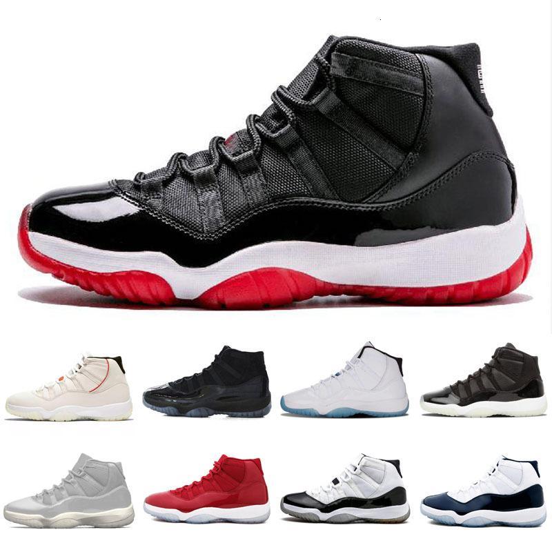 Cappello e abito 11 XI 11s PRM Heiress Nero scarpe da ginnastica rossa Chicago Midnight Navy Spazio Confetture Mens Retro Basketball Sport Sneakers