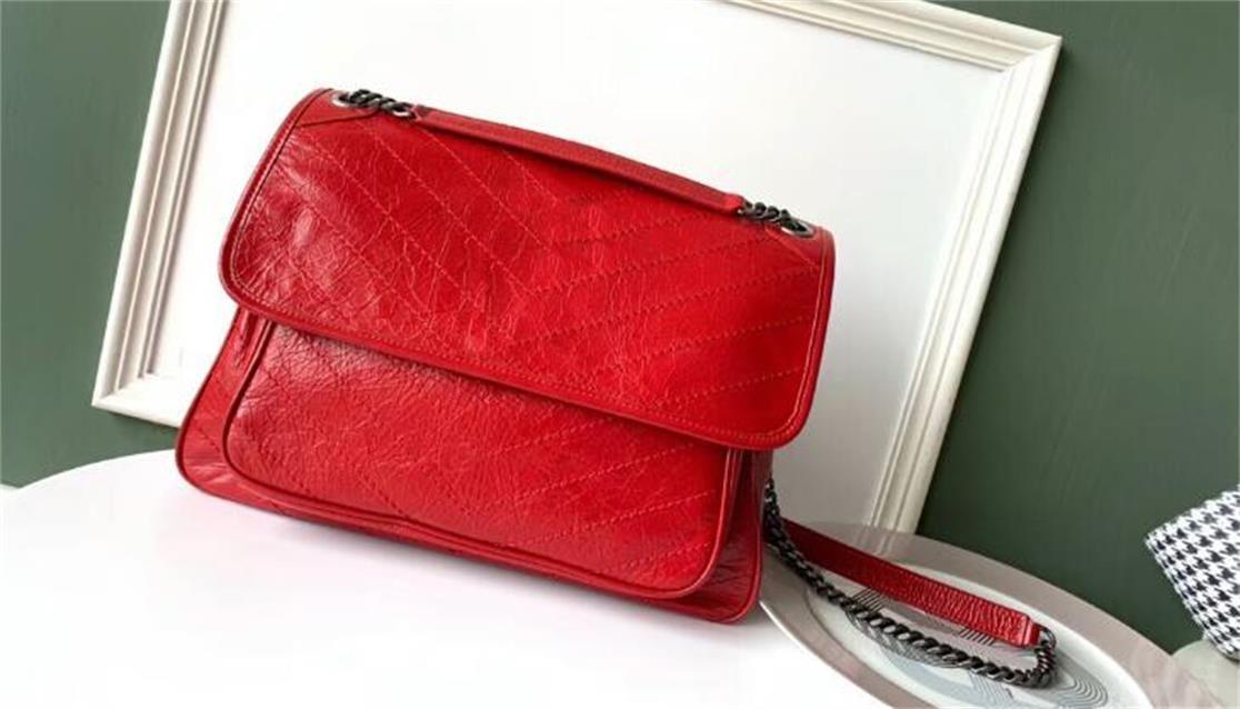 5A top Qualidade 498.883 32 centímetros Niki Grande Ombro couro de bezerro Vintage Bag, com saco de poeira, DHL frete grátis