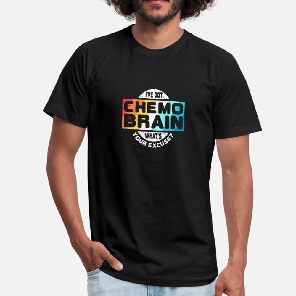 tişört Yuvarlak Yaka Standart Spor Komik Bahar Kıyafet gömlek yazdırma Kanser Kemoterapi Beyin Retro Bilinci Hediye t gömlek erkekler