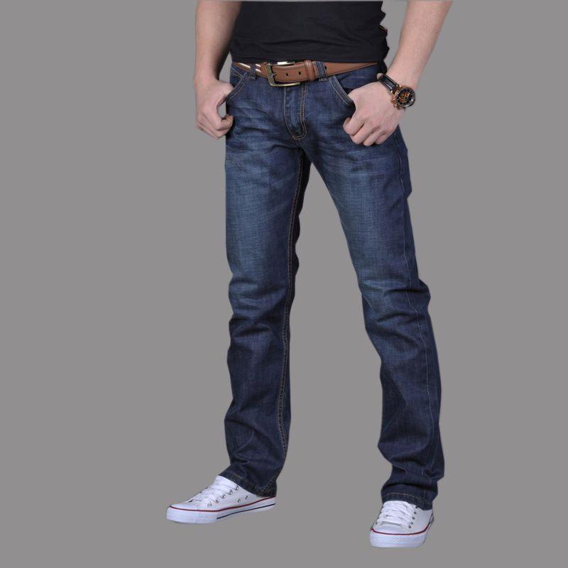 2020 do The New Men Jeans comprimento em linha reta completa Jeans Man solta tamanho grande calças Outono Cowboy Pant Big Size 28-38