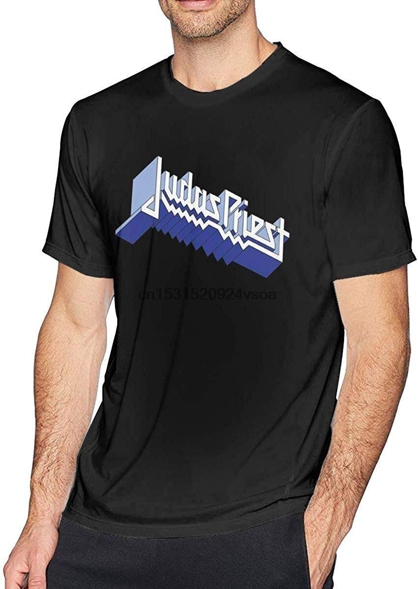 Mode für Männer Judas Priest-Rundhalsausschnitt Baumwolle Kurzarm kühle weiche Spitze Shirt