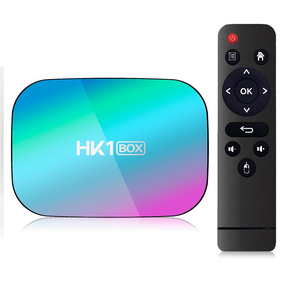 HK1 الروبوت صندوق TV 4 + 32 / 64GB AMLogic نوع S905X3 رباعية النواة الروبوت 9.0 التلفزيون مربع مع مزدوجة واي فاي بلوتوث 4.0 دعم الصوت عن بعد