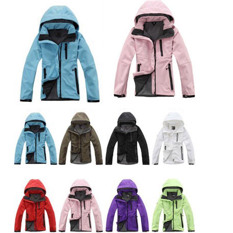 expédition rapide Automne Hiver Femmes Softshell Vestes Outdoor molletonné chaqueta Snowboard Randonnée Camping manteaux coupe-vent