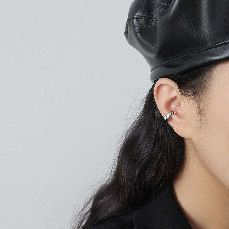 Las mujeres Manguito Pendientes de plata esterlina 925 No se Oreja Piercing pendiente de clip vende por pieza de plata del color oro