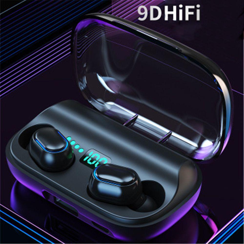 T11 TWS Cuffie wireless Bluetooth 5.0 In-Ear 3300mAh Cestino per smart phone Auricolari stereo Auricolari audio Dual