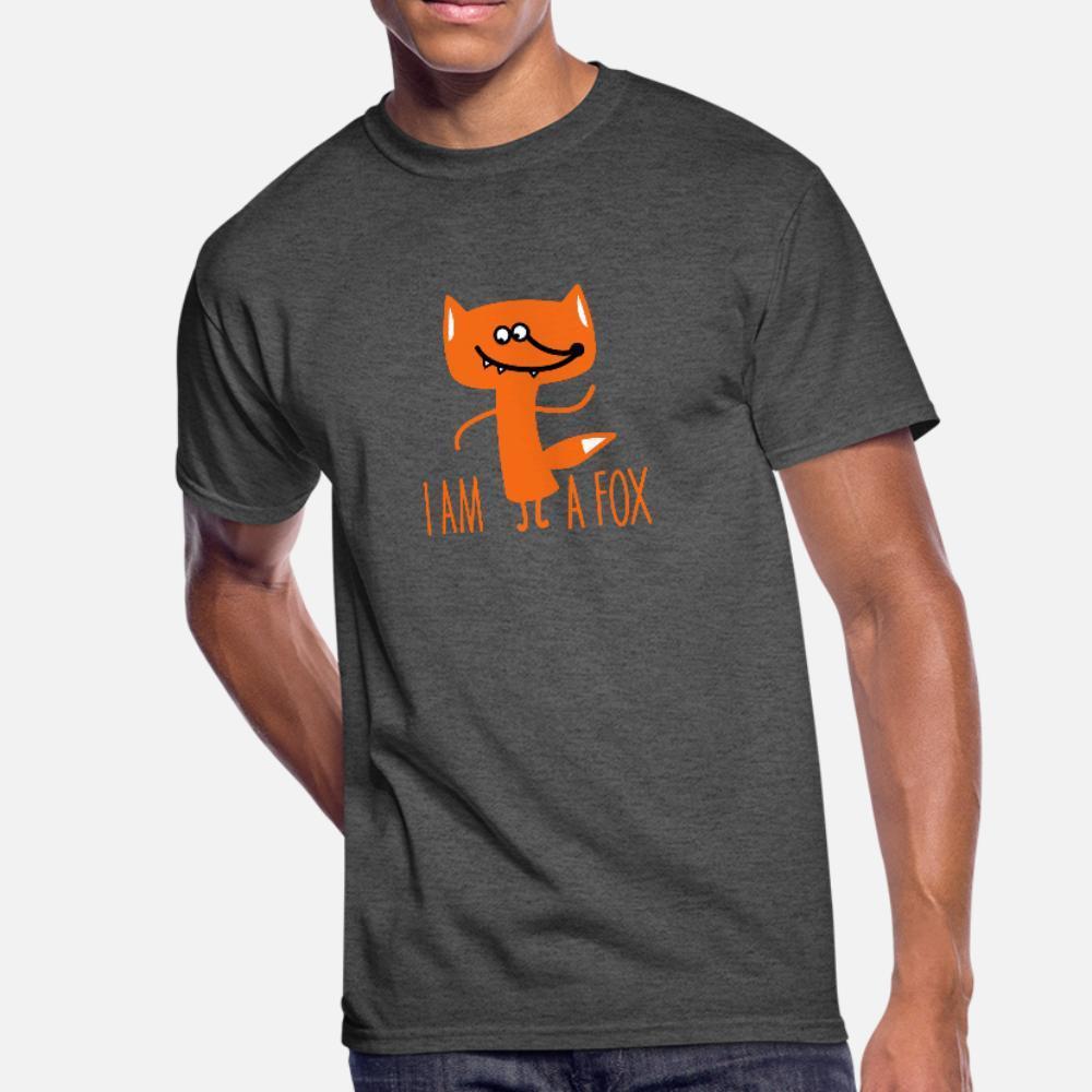 Ben Am A Fox B t gömlek erkekler pamuk Euro Boyut S-3XL Doğal Hediye moda İlkbahar Sonbahar Benzersiz gömlek Tasarımları