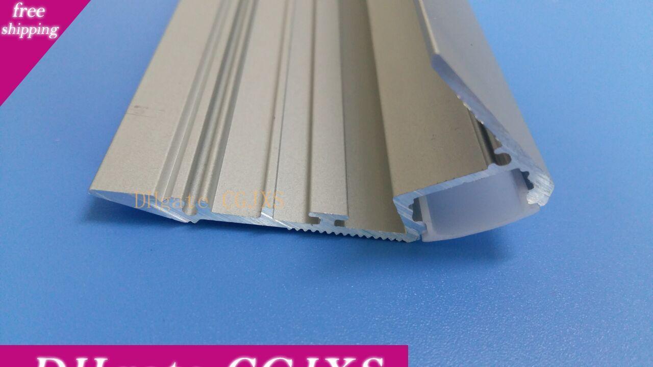 Envío libre de alta calidad del aluminio LED de perfil con la cubierta y la cubierta lateral para luz de tira llevada Iluminación de interior