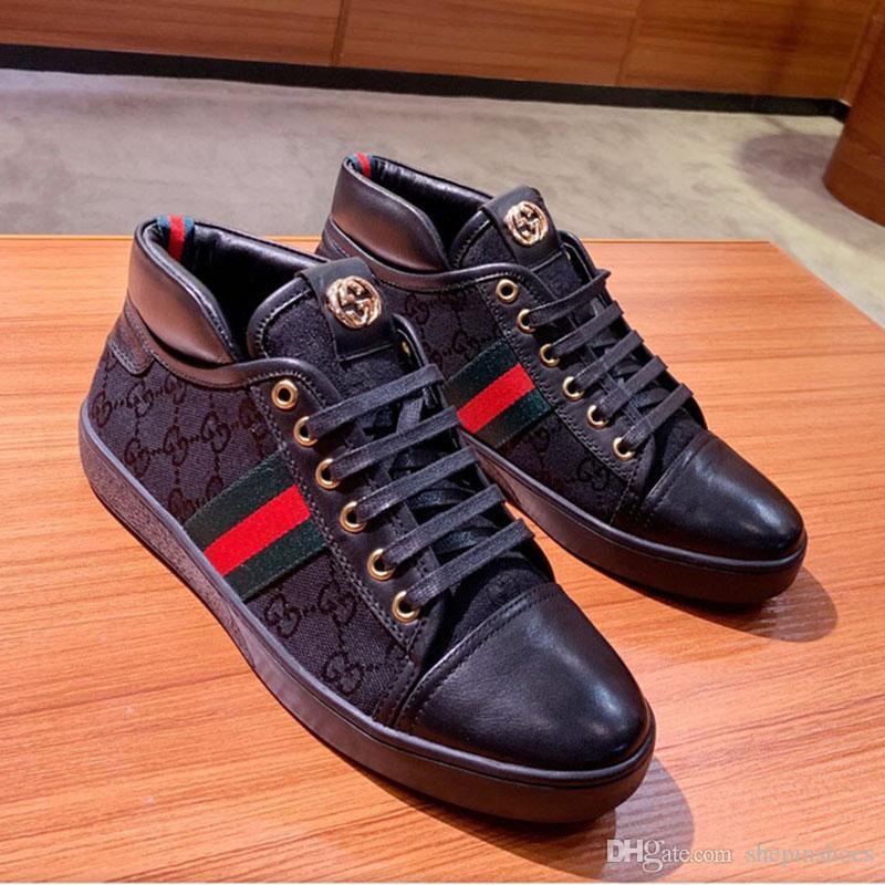 chaussures hommes de luxe de la mode baskets entraîneur occasionnels plate-forme en cuir toile confortable mode de haute qualité taille des chaussures en plein air 35-45