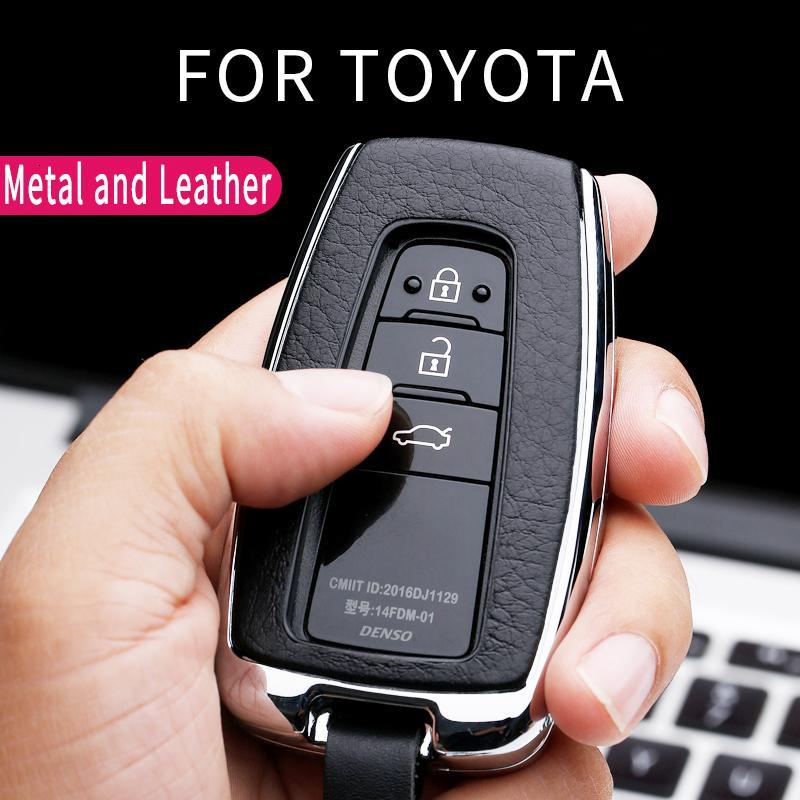 Auto-Schlüssel-Abdeckung Auto-Schlüssel-Fall für Toyota CHR CHR Prado Camry Avalon Prius Corolla RAV4 Avalon Keychain Schlüsselanhänger