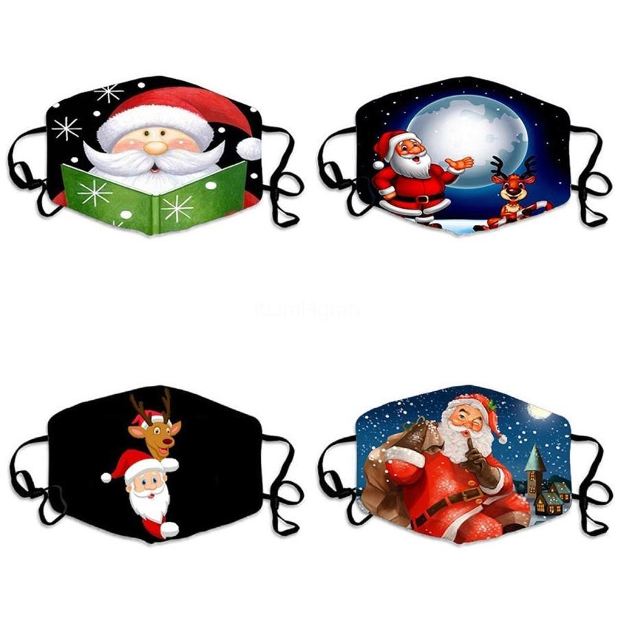 Maske 1 1Pcs Individuell Pack Designer Printed Black Face Mouth Staubdichtes WashableIce Silk Masken für Erwachsene # 790