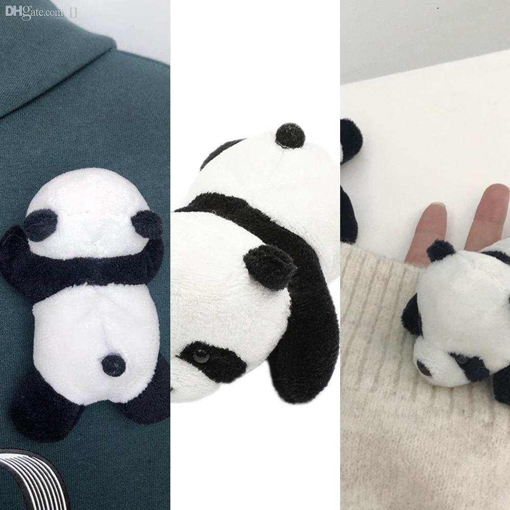 jKKJP Plank insignia de la panda Ed joyería perno fresco personaje bebé de la broche de dibujos animados bolsa de broches de solapa y esmalte Amigos de los niños unisex regalo