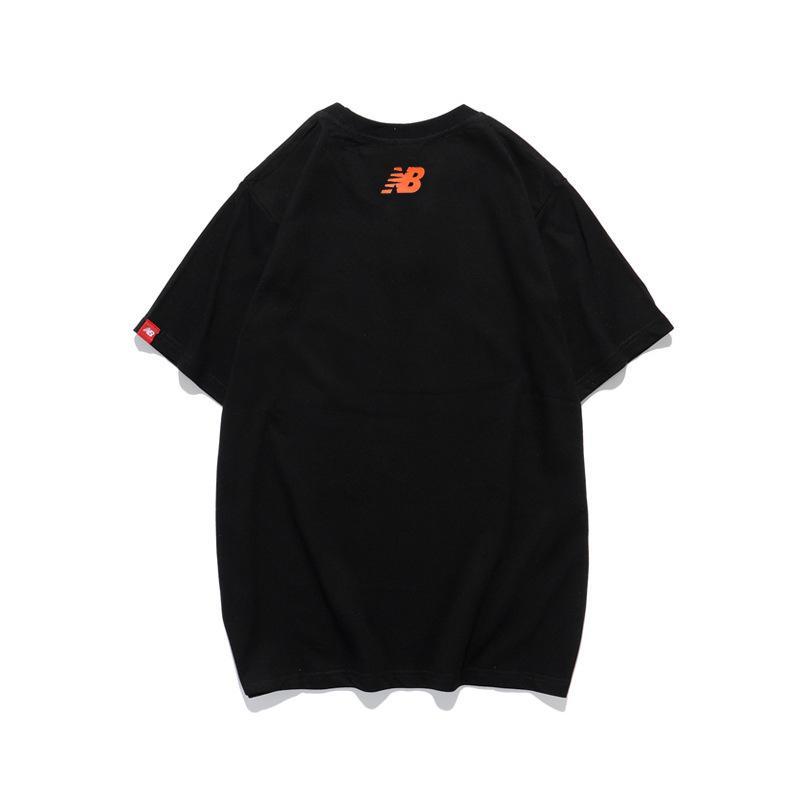 industria del estilo de la calle marca de moda pesado 20 letra del verano de espesor inferior impresión unisex BC8X3TCS de manga corta de algodón flojo ocasional