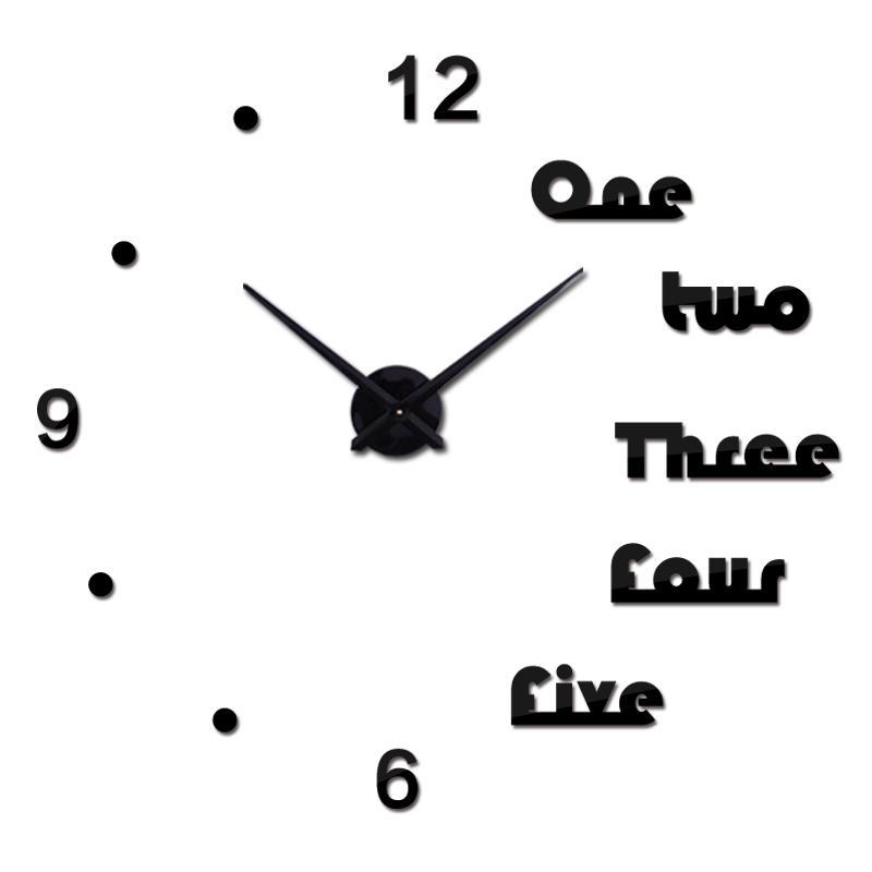 venda Relógio de parede quente 3D moderna grandes relógios relógio de quartzo sala acrílico relógios espelho de decoração para casa ainda adesivos DIY vida