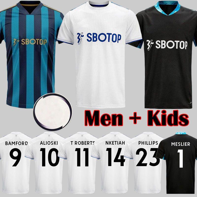 الجديدة 20 21 آخر مواضيعي ليدز لكرة القدم جيرسي المتحدة الذكرى 100th 2020 2021 COSTA Alioski فيليبس BAMFORD CLARKE الرجال الأطفال قميص كرة القدم