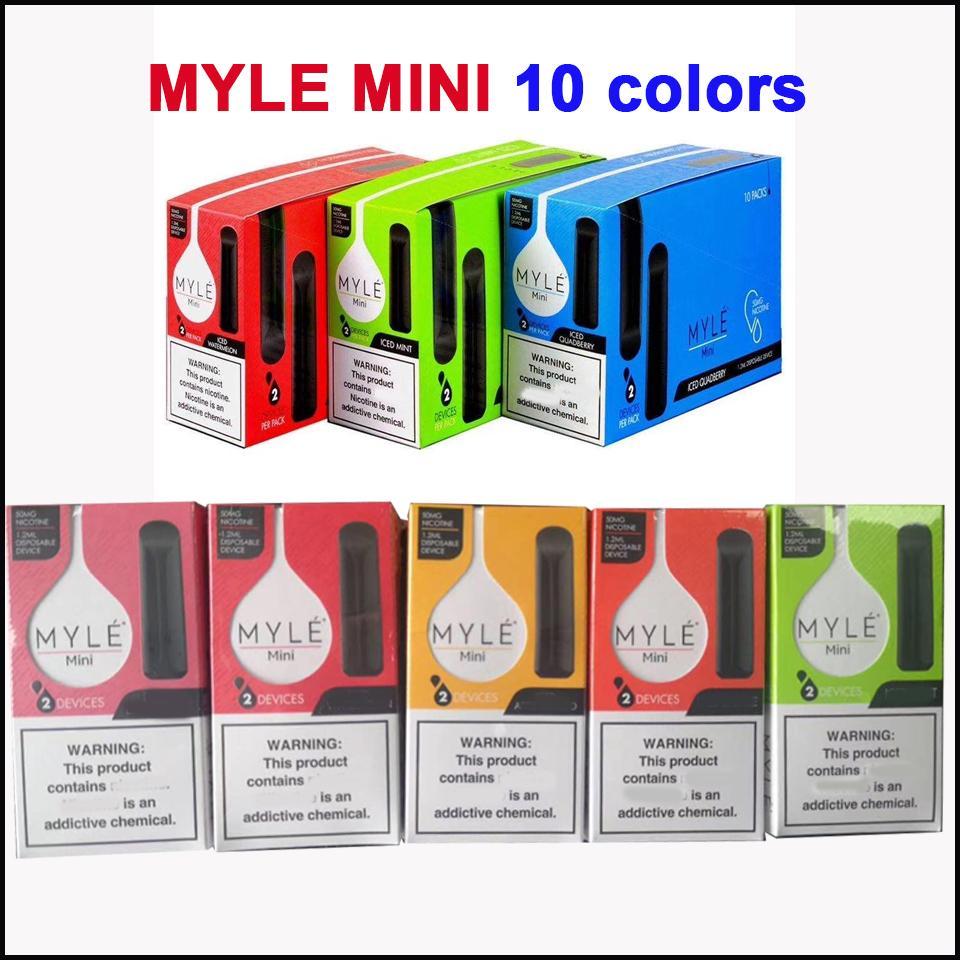 Newest Myle mini Disposable Vape Pen 280mAh Battery 1.2ml Pods Cartridges Pre-Filled e Cigs Device Vs Puff Bar Plus Flow Bang XXl