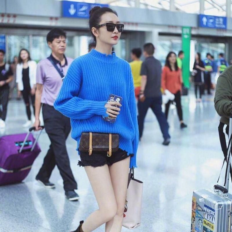 NGpqv Ван Ou звезды стиль Стиль 2020 кисточкой весной и осенью новый свободный waitmore обрезается ленивый же шерстяной свитер для женщин шерсти Wool