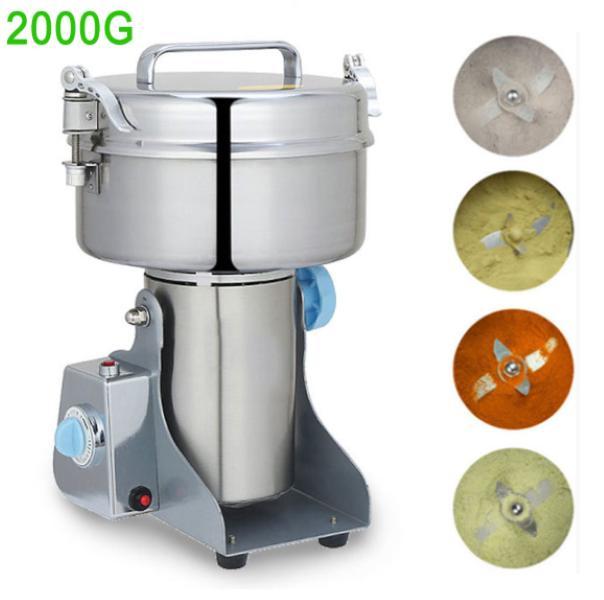 Alta velocidad de alimento amoladora molino pulverizador de polvo de hierbas 220V 110V grano de cereal de café Rectificadora molino de trigo grano de arroz especias