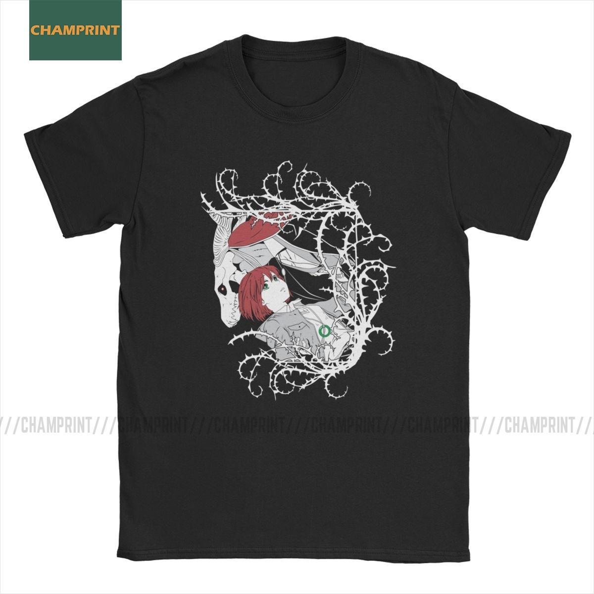 Erkekler Tişört Antik Magus Gelin T Gömlek Chise Ve Elias Pamuk Tee Gömlek Kısa Kollu Anime Ainsworth Manga Artı Boyutu Tops