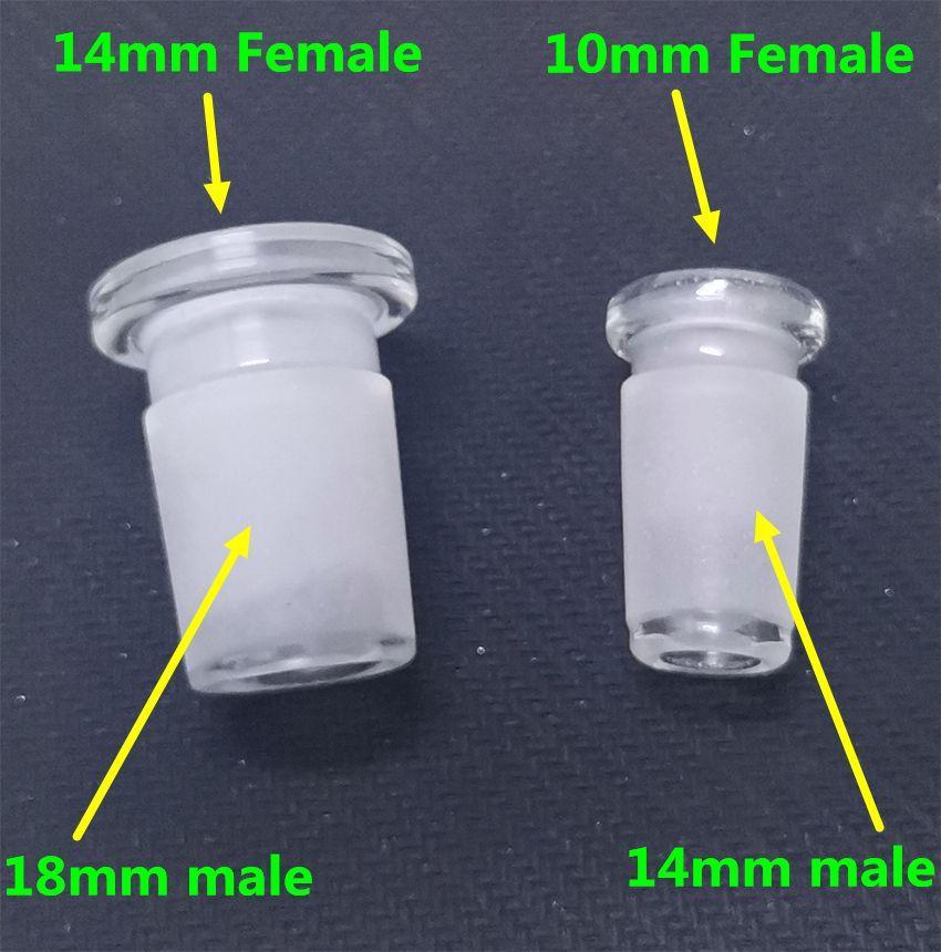 cam için 14 mm erkek cam adaptör dönüştürücü 10mm kadın bong kuvars Banger'ı cam kase 14mm kadın 18mm erkek Redüktör Connector