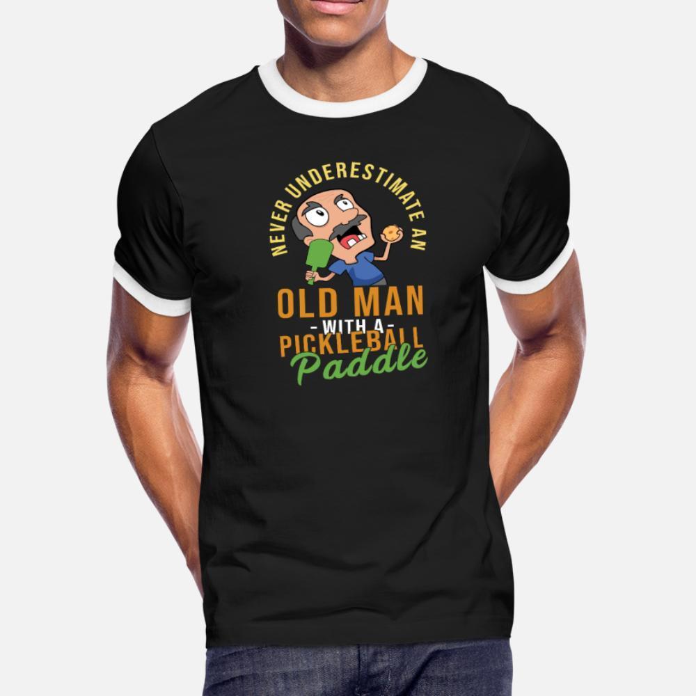 Pickleball Opa hafife Hediye Fikir t gömlek erkekler kısa kollu artı Doğal Kırışıklık Karşıtı Nefes Bahar Kıyafet gömlek 3XL boyutunu baskılı
