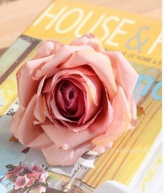 O novo chefe de simulação de rosa do casamento arco flores artificiais do 50pcs parede flor de seda / lot
