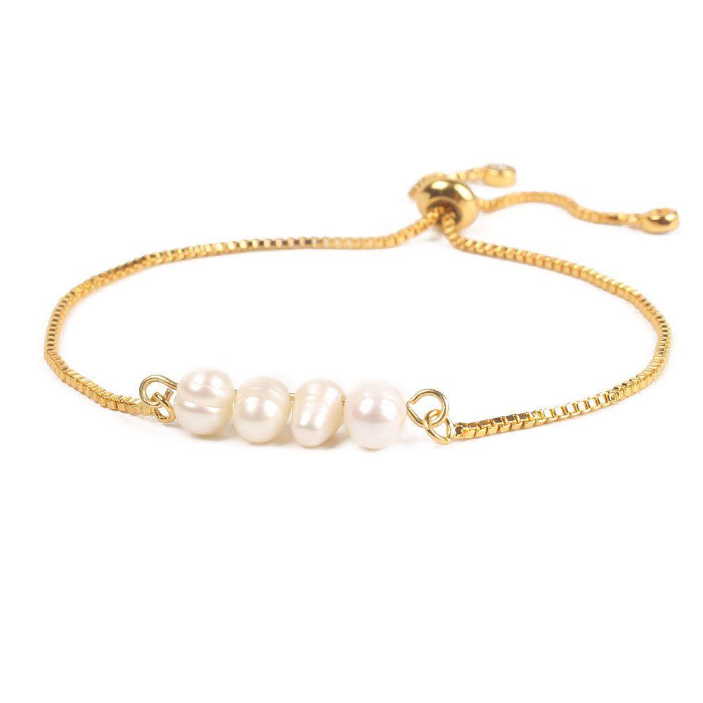 Bo2boho 2019 Bracciali per le donne Pulseria Mujer perla naturale braccialetto femminile Nuove Perle Gioielli d'oro catena Amicizia Y200918 regolabile
