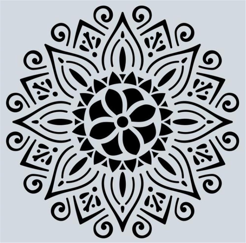 Hot Arts Craft 32 styles 15 * 15cm Mandala Pochoirs bricolage dessin décoration modèle découpé au laser mur Stencil peinture pour bois Carrelage Tissu
