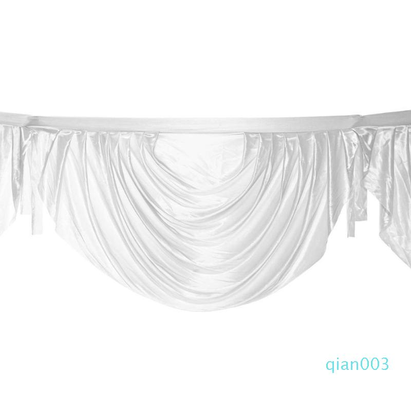 الجليد الحرير غنيمة الستارة الستارة الديكور لباب الخروج الزفاف خلفية ستائر الصورة كشك الديكور