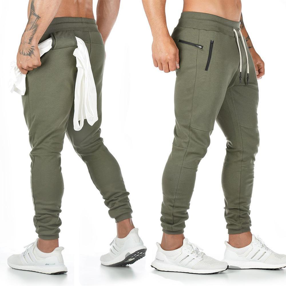 Spor Fitness Pantolon Erkekler Spor Salonları Skinny Sweatpants Açık Pamuk Parça Pantolon Alt Jogger Pantolon Egzersiz Koşucular Pantolon 200925