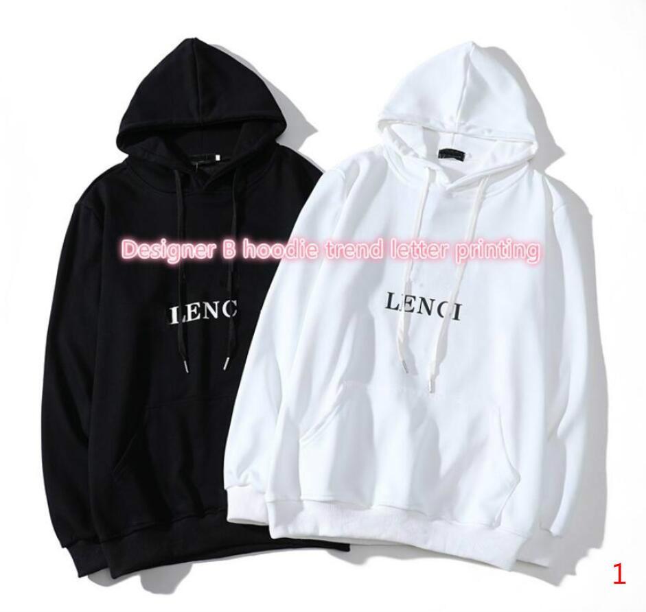 2020 Hoodies de la manera para los hombres del invierno del otoño del suéter casual Sudaderas Mujeres camiseta del tamaño S-2XL Negro Blanco S-2XL